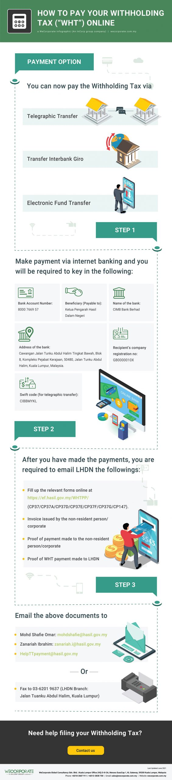 """How to pay your Withholding Tax (""""WHT"""") online"""