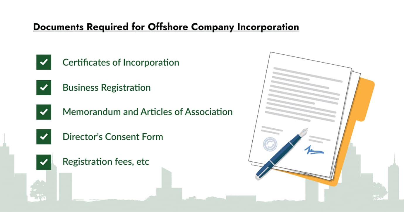 documents required for offshore company incorporation